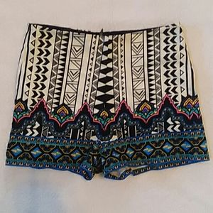 Altar'd State patterned high waisted shorts SM